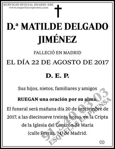 Matilde Delgado Jiménez